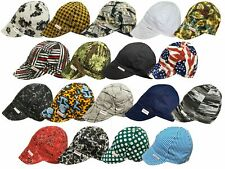 NWT 1 Welding Welders Hat Comeaux Caps Assorted Print Single sided Sized cotton