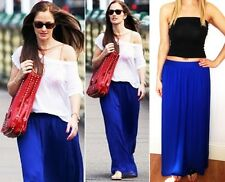 ROYAL BLUE JERSEY LONG BOHO MAXI SKIRT 6 8 10 12 14 16 PETITE REG TALL