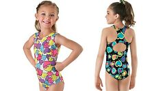 NEW Pastel or Bold Fun Bright Vivid Hearts Dance Gymnastics Leotard Child Adult