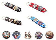PIERCE THE VEIL BUTTONS SYTHETIC LEATHER KECHAIN KEY RING  Style 7-12