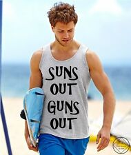 SUNS OUT GUNS OUT #2 Vest Tank Top Summer Holiday Funny Men 22 Jump Street Ibiza
