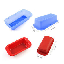 Silicone Rectangle Non-stick Loaf Tin Toast Bread Cake Baking Mold Bakeware Pan