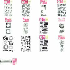 SCRAPPY CAT Acrylic Clear Rubber Stamp Sets (You Choose Theme and Style)