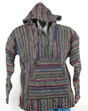 Genuine Mexican Baja hoodie multi colour pullover jacket s m l xl xxl poncho