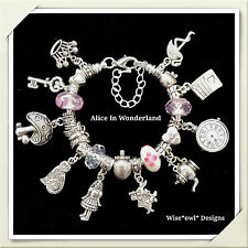 ALICE IN WONDERLAND BRACELET 10TH,12TH,13TH,16TH,18TH OR 21ST GIFT AND FREE GIFT
