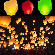 5/10pc Cylindrical Sky Lantern Chinese Paper Lantern Wedding Flying Wishing Lamp