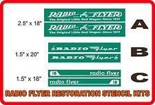 2 RADIO FLYER RESTORATION STENCILS - DECALS - STICKERS - GRAPHICS