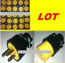 NEW Lot  3 prong prong3 15 amp 125v electrical plugs male and female wholesale
