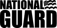 "Military Decal-U.S. National Guard Decal- Exterior Window Decal 3.5""x7"""