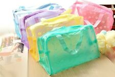 Clear Waterproof Cosmetic Toiletry Kits Pouch Swimming bags Wholesales 5 Colors