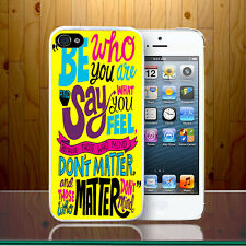 Be Who You Are Quote Vibe Good Thought Self Motivation Hard Phone Case Cover