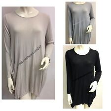 italian lagenlook tunic oversize layering dress made in Italy baggy top OSFA