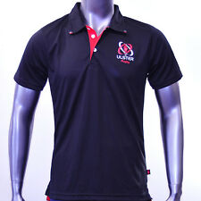 Ulster Rugby Cool Training Official Polo Shirt 2014-2015 (Black) 100% Polyester