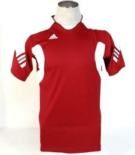 Adidas ClimaCool Burgundy & White Short Sleeve Athletic Soccer Jersey Mens NWT