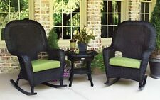 Outdoor Patio Garden Furniture Tortoise Resin Wicker Rocker Chairs and Table Set