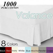 1000TC Egyptian Cotton Valance 8 Colors Available King/Queen/Double Size Bed