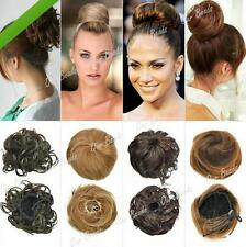 DIUS Lady Girl Clip-on Dish Hair Bun Extension Hairpiece Scrunchie Tray Ponytail