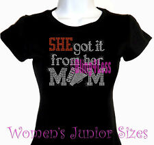 She Got It - CHEER - Rhinestone Iron on T-Shirt - From Her Mom Sports Top