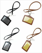 Durable Leather PU Necklace Lanyard with Vertical / Horizontal ID badge Lanyard