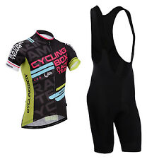 CYCLINGBOX Days spider Cycle Jersey Bike Shirt Race Top And Bib Shorts For Men
