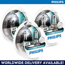 GENUINE PHILIPS X-TREME VISION H1 H4 & H7 HEADLAMPS IN SINGLE/TWIN PACKS