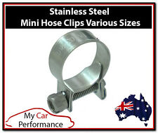 2x Performance Mini Line Hose Clamps Clips - Stainless Steel - Many uses