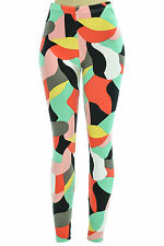 Colorful Pallets Of Blotches Print Stretch Skinny Leggings Jegging