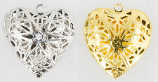 Heart shaped filigree locket with matching necklace option