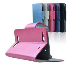 Leather Flip Case Cover for Alcatel One Touch Idol Alpha OT 6032A 6032X