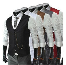 Casual Fashion Business joker Vest men's clothing 5 colors for choice