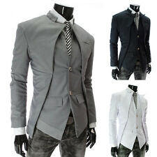 New Fashion Casual Slim fit  Asymmetry Suit Single breasted men's clothing