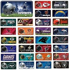 NFL Teams -  Metal License Plate Tag