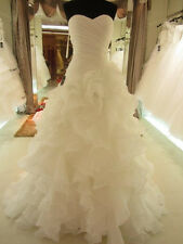 2014 New White Ivory Sweetheart Lace Up Organza Wedding Dress Custom Made2-4-6++