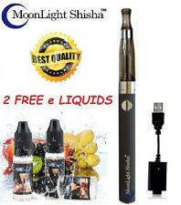 ELECTRONIC E SHISHA VAPOR PEN RECHARGEABLE 1100mah BATTERY & 2 E LIQUID FLAVOUR