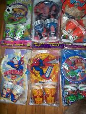 Vintage Unique Party Pack for 8 Rare 80's 90's Characters U Pick NOT a LOT NOS