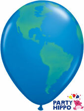 """11"""" Globe Planet Earth Latex Balloons Qualatex Helium Quality Party Decorations"""
