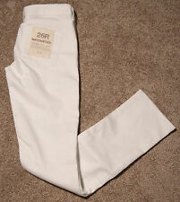 NWT J Crew Factory Matchstick Straight and Narrow Skinny Stretch Jean White $79