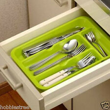 Multifunction Drawer Plastic Cookware Spoon Fork Storage Organize Box Plate Rack