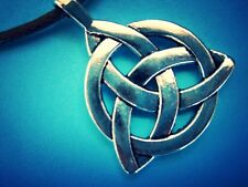 Celtic Knot Triquetra Trinity Silver Pewter Pendant Necklace,Nickel & Lead Free