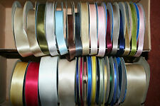 100% Pure Silk Double Sided Satin Ribbon by the Metre