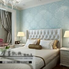 Wall Paper 3D Wallpaper Roll Damask Non-woven Embossed Textured Bedroom