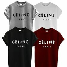 CELINE PARIS MENS WOMENS T SHIRT RIHANNA TOUR HYPE GEEK DOPE HIPSTER SWAG TEE