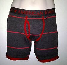 NWT AMERICAN EAGLE OUTFITTERS MENS STRIPED ATHLETIC TRUNK NEW BLACK BOXER