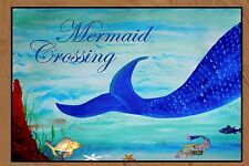 Mermaid Crossing Floormat  20 ounce loop style from Original Art