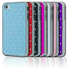 FOR APPLE iPHONE 4 4s CRYSTAL  LUXURY DIAMOND CASE DIAMONTE BLING HARD COVER