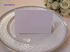 ~*~BLANK Wedding White Folded Name Place Card Choose Quantity - BULK~*~
