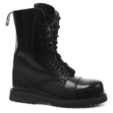 Mens Womens Grinders Hunter Stag Black LaceUp Leather Combat Uniform Boots New