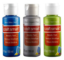 Gemcraft 28 paint n bake paints glass ceramic metallic ebay for Craft smart acrylic paint