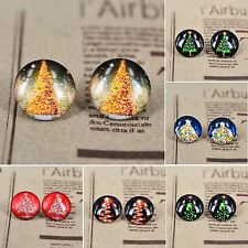 10pcs Handmade Christmas Photo Glass Dome Cabochons Gift DIY 20mm
