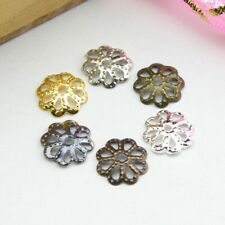 Wholesale Gold /Silver/Copper Plated Flower Bead Caps Jewelry Findings 10/12mm